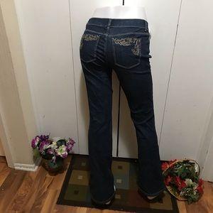 White House Black Market Blue Jeans Boot Leg 4